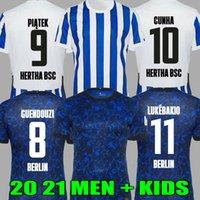 20 21 Hertha Bsc Soccer Jersey Guendouzi Cunha Piatek Футбол Berlin Cordoba Dilrosun Tousart Lukebakio Мужские рубашки