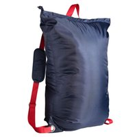 Laundry Bags Multipurpose Hanging Zipper Design Adjustable Strap With Handle Solid Portable Backpack Large Capacity Foldable Storage