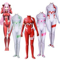 4 Colors Anime Darling in the Frankxx 02 Zero Two Cosplay Costume Lycar Spandex High Quality Zentai Bodysuit Sexy Catsuit Jumpsuit
