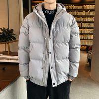 2021 Winter Men Parkas Casual Down Ets Warm Thicken Solid Hooded Coats Mens Parka Outwear Windbreaker Windproof Clothing