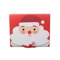 50% di sconto Square Buon Natale Carta Packaging Box Santa Claus Favore Borse regalo Buon anno Capodanno Caramella di cioccolato Scatole per feste S911 Jersey