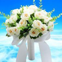 Свадебный букет ручной работы искусственный цветок роза Buque Casamento Bridal для украшения Ramos de Novia декоративные цветы венки