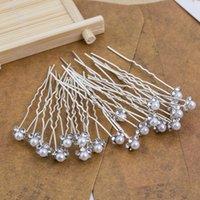 S2521 moda jóias liga faux pérola em forma de u-shaped bride bride hairpins lady hair stick acessório