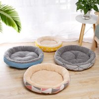 Kennels & Pens Cushion Mat Kennel Soft Round Plush Dog Bed Cat Winter Warm Puppy Teddy Small House Pets For Dogs Cats