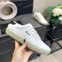 Kadın Erkek Rahat Ayakkabılar Sneaker Trendy Deri Platformu Kaykay Tuval Sneakers Oxford Elbise Yürüyüş Eğitmenleri Beyaz Chaussures