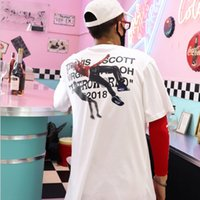 Travis Scott T Shirt Manga corta Astroworld Concierto Hombres y mujeres Pareja de algodón de moda Tops Tops Trendy