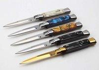 9 pollici Mafia italiana Godfather Azione singola Azione Automatic Knife D2 Blade Camping Pocket Survival Auto Coltelli A07 C07 UT85 UT88 BM 3310 3400