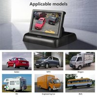 Car Video 4.3 Inch HD Display Foldable Monitor TFT LCD Camera Rearview Parking Monitors Screen For Reverse System N8V7