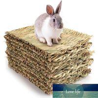10 упаковок тканой кровати коврик для кроликов-травяной коврики кролика Bunny постельное белье гнездо натуральный жевать игрушечный кровать для морской свинки шиншилла белка
