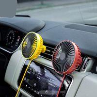 5 V Araba İç Fan Plastik Bıçak Soğutma Hava LED Işık USB Tel Kontrol Anahtarı ile