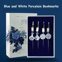 Elegantes marcadores de metal Jarrón Dragón Phoenix Lotus Flores Patrones Estilo Popular Chino Bookmark Bookmark