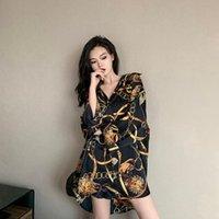 Женские блузки Рубашки Houzhou Женщины Harajuku Винтаж Y2K Top Eestestetic Street Street Carean Fashion Fashion Fashion Cardegan Genery 2021