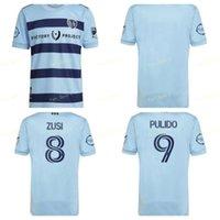 MLS 21 22 Sporting Kansas City Futebol Jerseys Versão 2021 2022 Pulido Busio Russell Zusi Camisas de futebol Home Adulto Maillot de Futol Tailândia Qualidade Personalizado