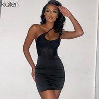 Mode Schwarze Pailletten Sling Bodycon Kleid Frauen 2021 Sommer Sexy Sehen Sie durch Partyurlaub Geburtstag Weibliche Freizeitkleider