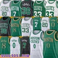 "Boston ""Celtics"" Jersey Basketball Larry 33 Bird Jayson 0 Tatum Jaylen 7 Brown Terry 12 Rozier III Marcus 36 Inteligente Al 42 Horford Gordon 20 Hayward Retro Juventude"