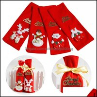 Decorations Festive Supplies & Gardenxmas Red Wine Bottle Er Bags Festival Decoration Home Party Santa Claus Christmas Cute And Happy With P