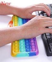 2021 Keyboard Silicone Push Bubble Fidget Leksaker Musik Sound Finger Hand Support Deratisering Pioneer Game Board för Barn Vuxna