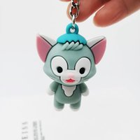 Coréia pintor gato keychain criativo Prático pequeno presente macio plástico bonito gato esquilo elefante chave pingente de elefante