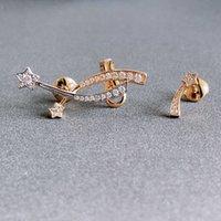 2022 Hot Brand Pure 925 Sterling Silver Jewelry Star Ear Cuff Earrings Lozenge Design Wedding Nich Party Silver Luxury Quality