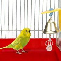Diğer Kuş Malzemeleri Beyin Oyunu Oyuncak Pet Isık Oynama Çiğneme Oyuncaklar Kuşlar Kafes Aksesuarları için Çan Ile Oyuncaklar