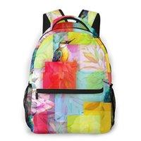 Backpack 2021 OLN Women Shoulder Bag Vintage Bird With Flowers Fashion School For Teenage Girl Backpacks Travel