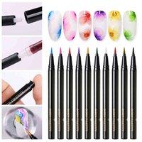 Yutong ولد جميلة لون الماء الأظافر البولندية القلم الفن s اللوحة ازدهار الجمال 1ML 12 لون التصميم
