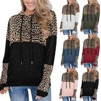 Hoodies Sweatshirt Leopard Camouflage Print Patchwork Zipper Pocket Tops Women Long Sleeved Loose Hooded Casual Pullovers Hoodie cny2528