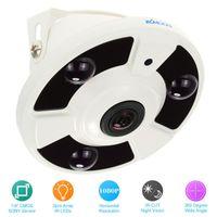 KKmoon® HD 2000TVL 1080P 1.7mm Fisheye 360° Panoramic Security CCTV Camera Home Surveillance PAL System IP Cameras