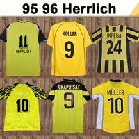 95 96 Ricken Moller Herrlich Erkek Retro Futbol Formaları Chapuisat Reina Bobic Dede Futbol Gömlek Ewerthon Metzelder Üniformaları