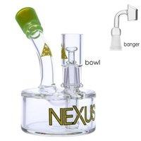 물 담뱃대 Nexus Bubbler Heady 유리 물 파이프 미니 오일 장비 물 봉지 비커 봉 14mm 그릇 5.1 인치