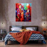 Портрет домашнего декора Огромная живопись масляными маслом на холсте рукоятки / HD Print Wall Art Picture Chapteration приемлема 21050419