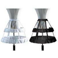 여성용 잠옷 Lolita Petticoat Underskirt 짧은 드레스 코스프레 웨딩 스커트 2 개의 철강 물고기 뼈 소녀 생일 GIF