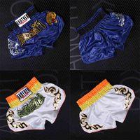 MMA Hombre Pantalones de boxeo Kickboxing MMA Shorts Jujitsu Fight Luchando Tigre corto Muay Thai Shorts Shain Sanda Barato Boxing MMA Y0408