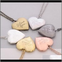 Fashion Jewelry Womens I Love You Openable Locket Heart Po Box Pendant Necklace Sweater Necklaces S380 Iecxw Poxrk