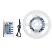 스마트 홈 컨트롤 LED 스트립 조명 침실 1m 길이 30leds RGB 원격 변경 색 방수 라이트 바