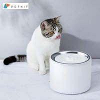 Cat Bowls & Feeders PETKIT Water Fountain Stainless Steel 1.35L Automatic Pet With LED Auto-Shut Off Pump Dispenser
