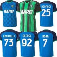 2021 2022 US Sassuolo Calcio Home Soccer Thereys прочь Чирича Джерич, Locatelli Berardi Boga Caputo Defrel 21 22 человек третья футбольная футболка