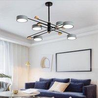 Pendelleuchten Moderne LED-Lichter Esszimmer Wohnzimmer Schlafzimmer Küche Industriem Macaron 4-6-8-Köpfe Rohrleitungen Hängende Leuchte
