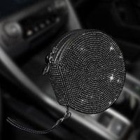 Car Organizer Design Diamond CD Case For DVD Box Automotive Supplies Storage Home Holder Leather Bag Bling Accessories