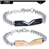 Lovers Bracelet Fashion Stainless Steel Rose Gold Black Bracelet wholesale To Manufacturers Link, Chain