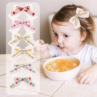 Girls Hair Accessories Baby Hairclips Bb Clip Barrettes Clips Accessory Children Lace Bow Hairpin Double-Deck Bowknot Flower Embroidery B6268