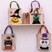 26 * 15 cm Halloween Leinen Einkaufstasche Kürbis Candy Aufbewahrungstaschen Festliche Lieferungen 4 Arten Halloween Dekoration Handtasche Cyz3266