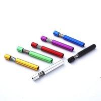 Портативные металлические курительные трубы 8 мм весенний алюминиевый травяной табачный трубный держатель для сигареты аксессуары DHD6394