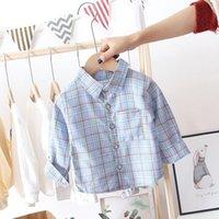 Shirts Kids Plaid Shirt Spring Autumn Baby Boy For Children Plaids Blouse Little Girls Long Sleeve Strips Clothes
