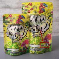 Zwei größe Kush Rush Exotics Taschen wiederverschließbare Reißverschlussdichtung für Frische kinderfeste Blumen Verpackung 3,5g oder 7g Mylar Taschen Kush Rush Mylar Bagsfh