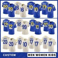 9 ماثيو ستافورد مخصص الرجال النساء الاطفال كرة القدم الفانيلة 16 جاريد غوف 99 آرون دونالد 10 كوبر كوب 17 روبرت وودز 23 كام Akers 20 Jalen