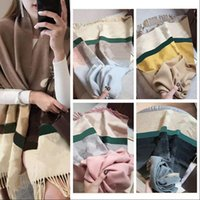 21FW Fashion Designer Cashmere Scarf for Women Winter Classic Letter Flower Silk Lace Ring Scarves Size 180 * 65cm 6 Colors Option