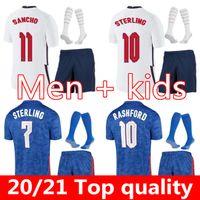 Соединенное Королевство Футбол Джерси 21 2022 Kane Sterling Rashford Sancho Henderson Barkley Maguire 20 22 Национальные футболки Мужчины Детский комплект Униформа