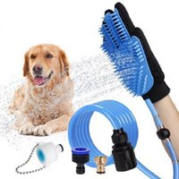 جرو كلب دش تدليك اليد فرشاة رئيس يده القط الاستحمام رذاذ دش الحيوانات الأليفة الاستمالة أداة غسل قطعة أثرية