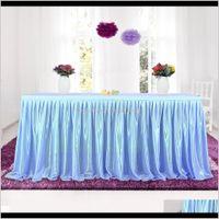 Panni Tessile Giardino Drop Consegna 2021 Tulle Tutu Gonna Panno per tavola per banchetto per feste Banchetto Decorazione della casa Tavolo da sposa Skirting 4 Colori